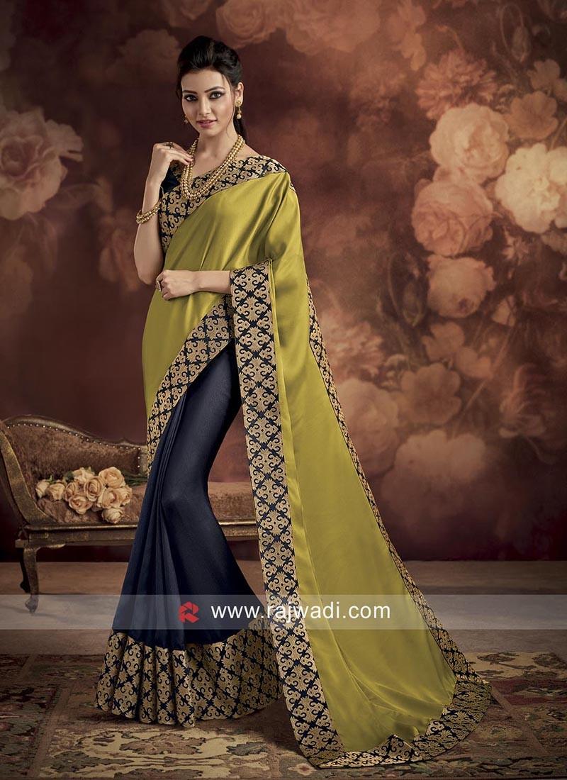 Satin Silk Half N Half Saree
