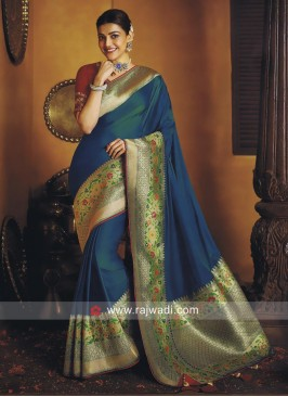 Satin Silk Kajal Aggarwal Designer Saree