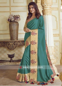 Satin Silk Kajal Aggarwal Saree with Blouse