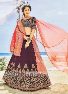 Satin Silk Lehenga Choli with Dupatta