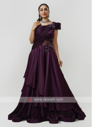 Satin Silk Party Gown
