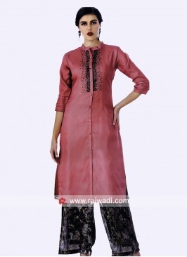 Satin Silk Party Wear Kurti