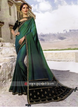 Satin Silk Party Wear Saree