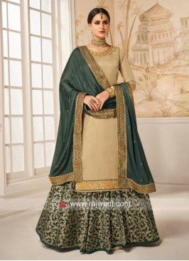 Satin Silk Semi Stitched Salwar Kameez