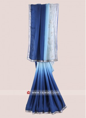 Satin Silk Shaded Party Wear Saree