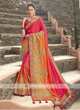 Satin Silk Shaded Saree