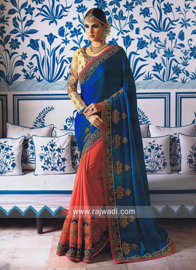 Satin Silk Stone Work Half Saree