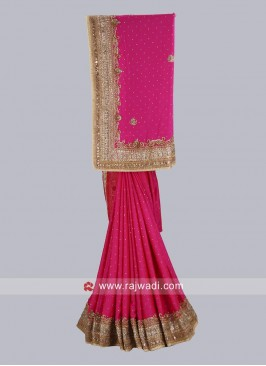 Satin Silk Wedding Saree