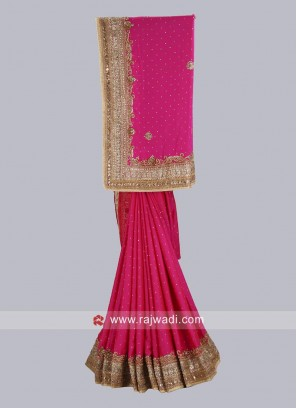 Satin Silk Wedding Saree