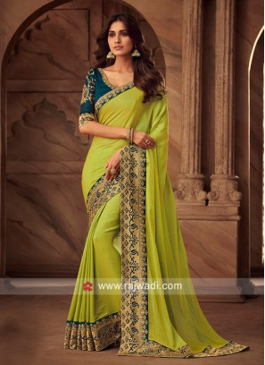 Satin Silk Zari Work Saree
