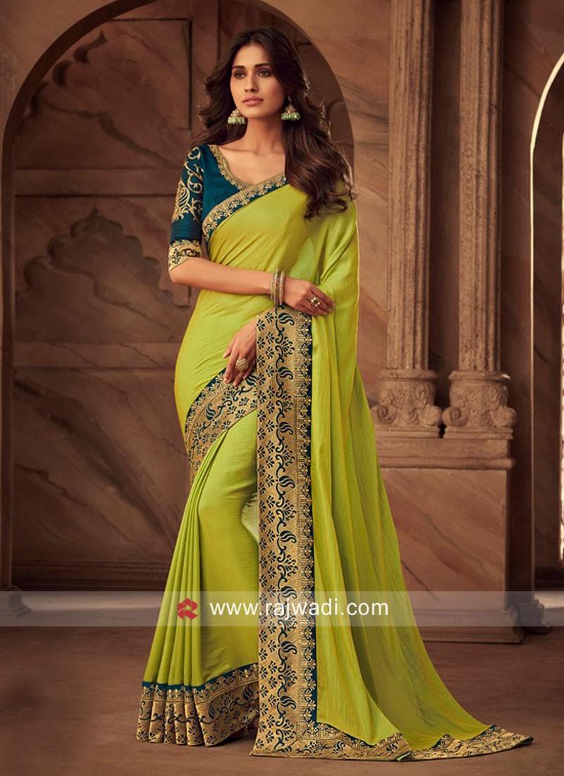 Satin Silk Zari Work Saree