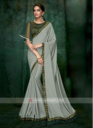 sea green art silk saree