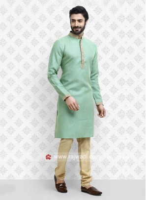 Sea Green Casual Kurta Pajama