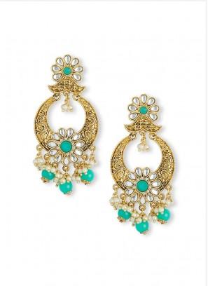 Sea Green Chandbali Earring Set