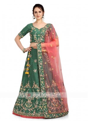Sea Green Color Lehenga Choli