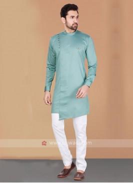 Cotton Silk Kurta Pajama For Men
