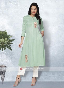 Sea Green & Cream Kurta Set