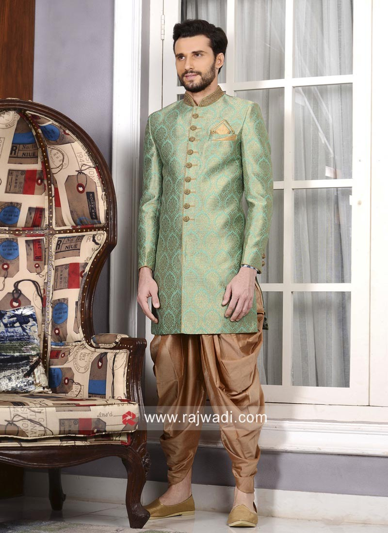 Sea Green Indo Western For Wedding