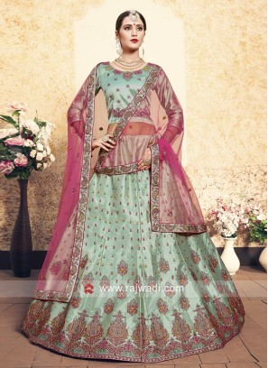 Sea Green Lehenga Choli with Dupatta