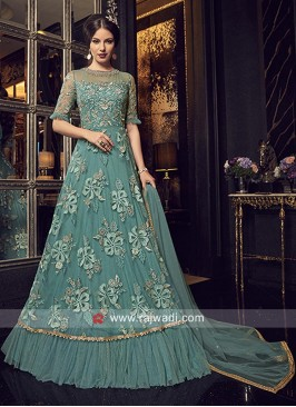 Sea Green Net Heavy Salwar Suit