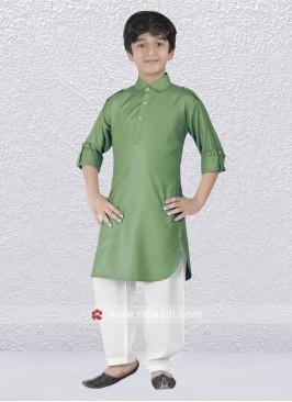 Sea Green Pathani Suit