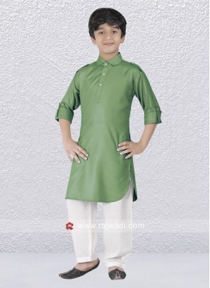 Sea Green Pathani Suit