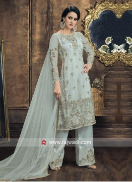 Sea Green Salwar Suit with Dupatta