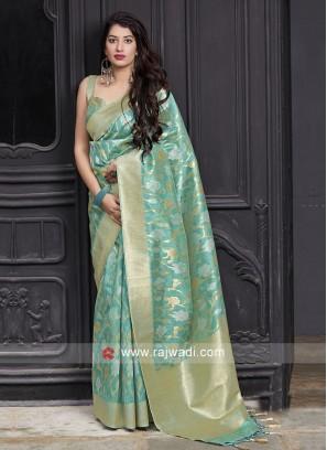 Sea Green Silk Saree