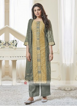 Shagufta Sea Green & Skin Color Palazzo Salwar Suit