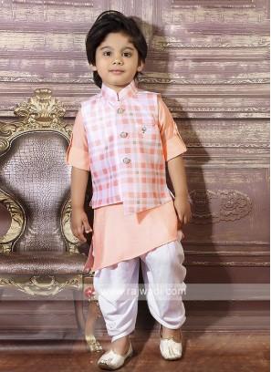 Self Checks Nehru Jacket For Boys