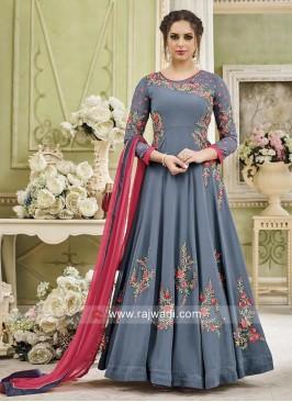 Semi Stitched Anarkali Salwar Kameez