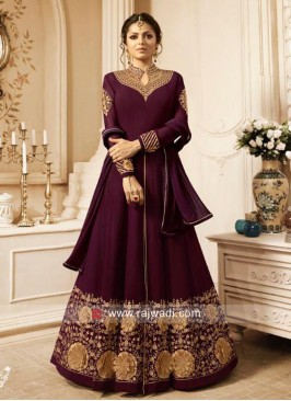 Semi Stitched Embroidered Drashti Dhami Suit