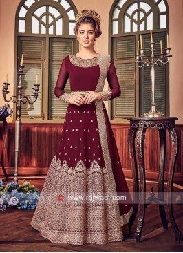 Semi Stitched Heavy Embroidered Salwar Suit