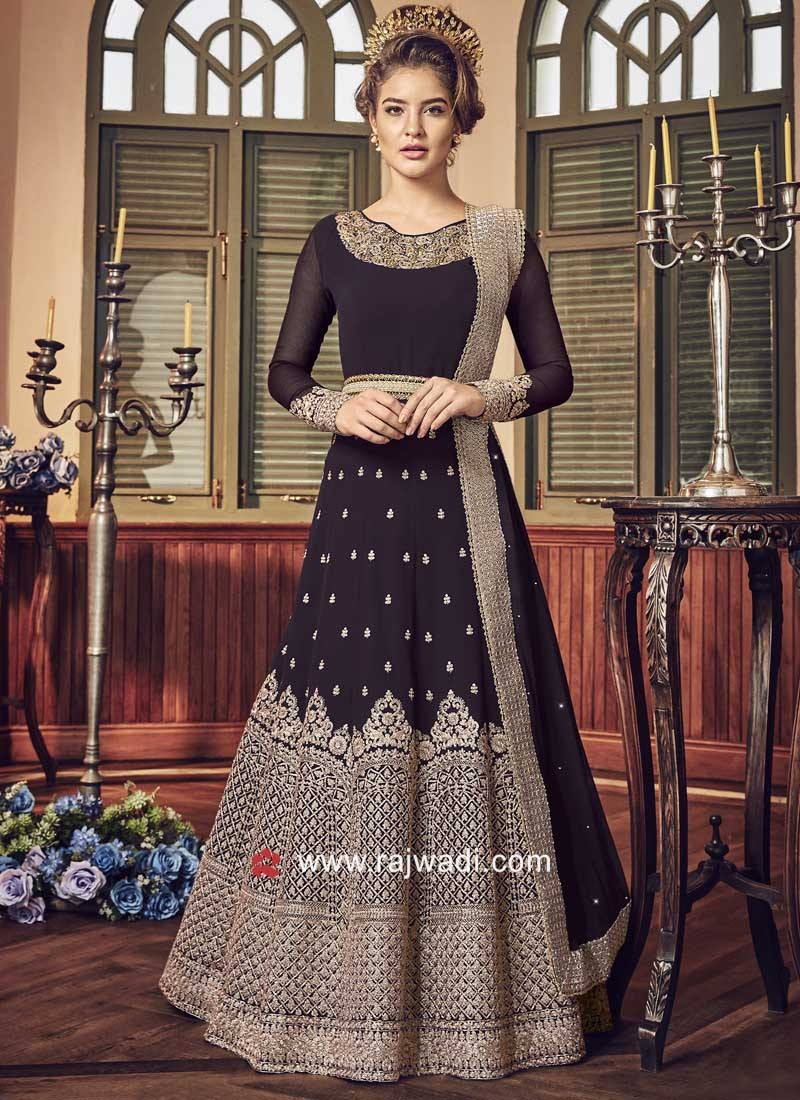Semi Stitched Heavy Salwar Suit