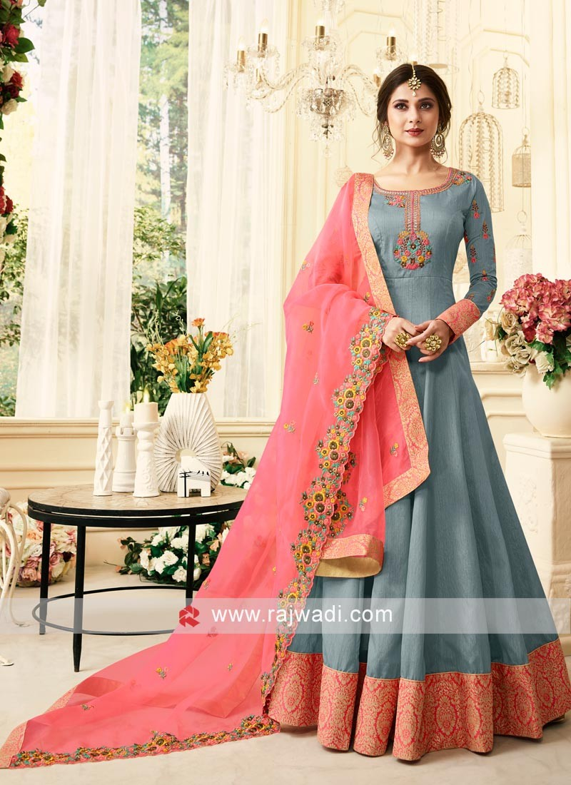 Semi Stitched Jennifer Winget Anarkali Suit