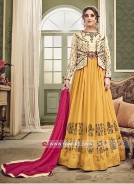 Semi Stitched Koti Style Salwar Kameez