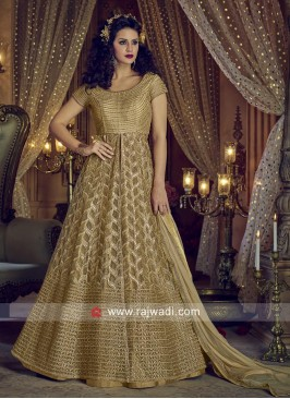 Semi Stitched Net Salwar Suit