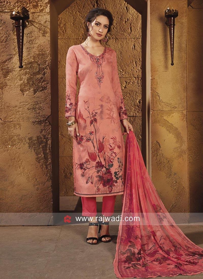 Semi Stitched Printed Salwar Kameez