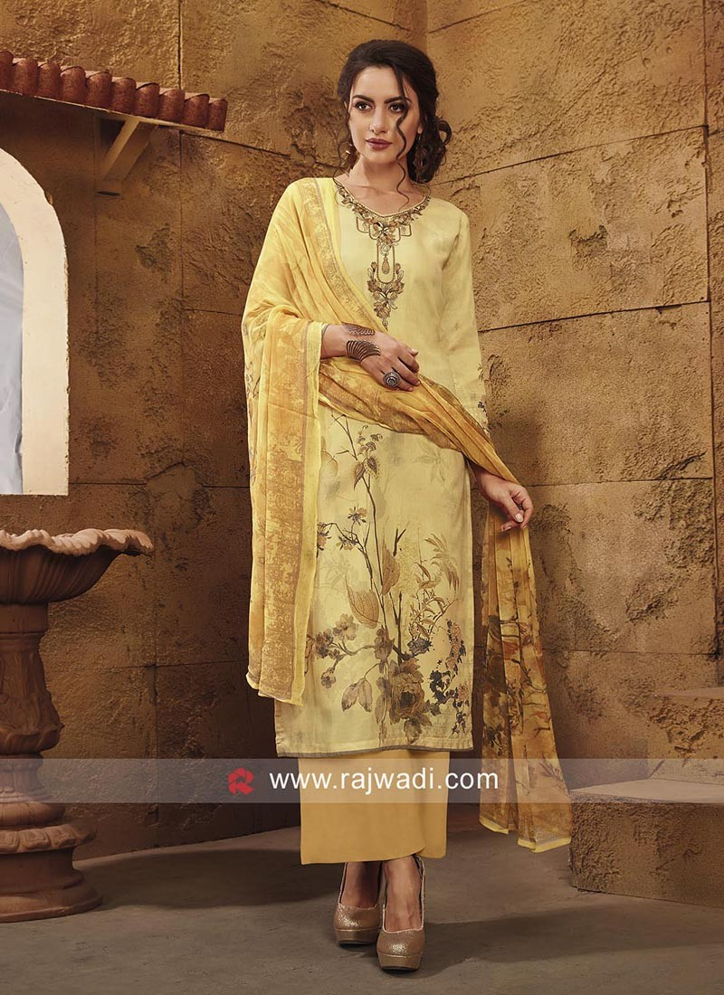 Semi Stitched Printed Salwar Suit