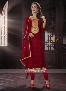 Semi Stitched Salwar Suit