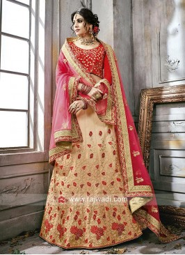 Semi Stitched Silk Lehenga Choli
