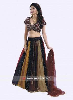 Sequins Work choli Suit For Wedding