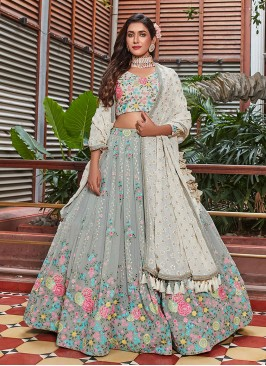 Sequins Work Choli Suit For Wedding Wear