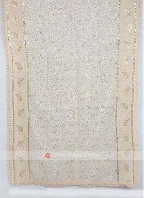Sequins Work Dupatta In Off-White