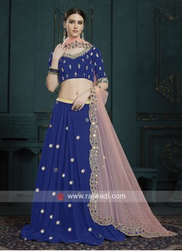 Sequins Work Georgette Lehenga Choli