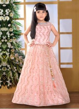 Sequins Work Lehenga Choli For Girl