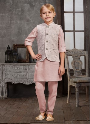 Sequins Work Nehru Jacket For Boy