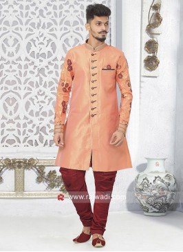 Marvelous Peach Color Indo Western