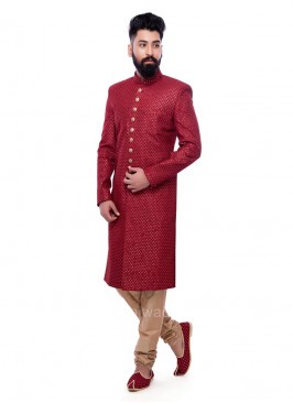 Sequins Work Sherwani