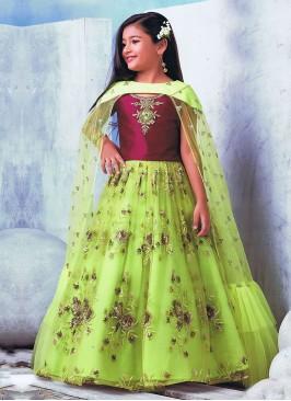 Sequins Work Wedding Girls Choli Suit